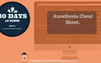 Anesthesia With Neuromonitoring: The Cheat Sheet…